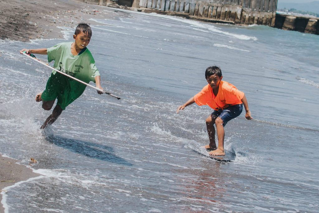 Young Davao City local skimboarders honing their skills. Keep Going photo