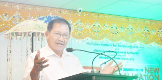 Mindanao Development Authority (MinDA) Secretary Emmanuel F. Piñol zooms in on agriculture as a key driver to Mindanao's new globalization preparedness, during the 5th Mindanao Policy Research Forum held at Mindanao State University - General Santos City on September 10, 2019. MinDA