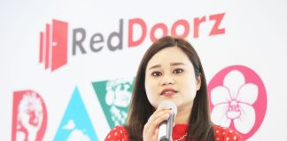 RedDoorz Philippines country manager Stefanie Irma walks members of the media through the background and services of the tech-enabled platform company during the media launch at Ritz Hotel in Bo. Obrero, Davao City on Thursday. Lean Daval Jr