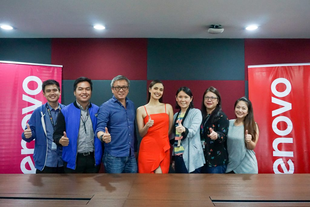 IN PHOTO FROM LEFT TO RIGHT: Lenovo Philippines' Joey Nocom, Consumer Product Manager for YOGA & IdeaPad; Tristan Gonzales, Consumer Product Manager for Legion & IdeaCentre; Michael Ngan, Country General Manager; Megan Young, Brand Ambassador; Sally Yu, Consumer Segment Lead; Anna Abola, Marketing Communications Manager; Mutya Syling, Operations Lead.