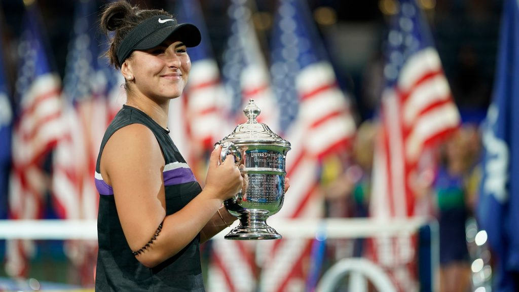 ANDREESCU BY THE NUMBERS: Let's crunch the numbers and break down Andreescu's tremendous achievement. 8-0: Andreescu's career record against the Top 10, after her victory over Serena Williams in Saturday's women's final. 1: The number of players that have won the US Open on their main-draw debut. It's a short list: Andreescu became the first, today. 208: Andreescu's ranking one year ago. 5: Andreescu's ranking on Monday, when the new WTA rankings will be released. 2006: Andreescu becomes the first teenager to win a major singles title since Maria Sharapova in 2006.