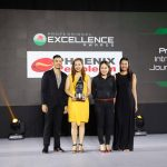 Phoenix Petroleum representatives, led by Assistant Vice President for Brand and Marketing Celina Matias (second from right), receive the Award of Excellence in Communication Management-Marketing, Advertising, and Brand Communication category from the Philippine Quill Awards 2019 for the groundbreaking launch of the company's world-class fuel additive, Phoenix PULSE Technology.