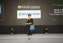 Security Bank Foundation Trustee Melissa Aquino represented Security Bank at the awarding ceremony on August 30.
